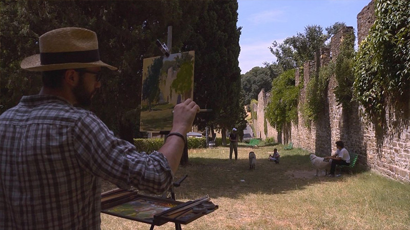 Firenze il Rinascimento degli artigiani pittore 2016 Talpa produzioni ftd